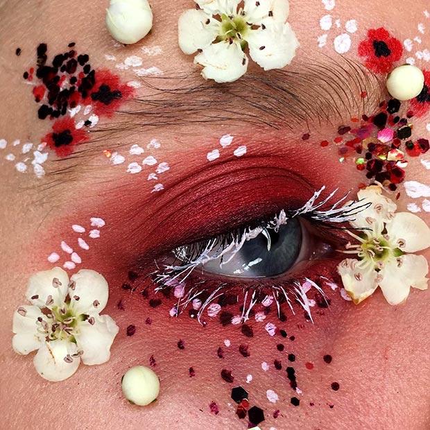 Клумба на лице-цветочный макияж