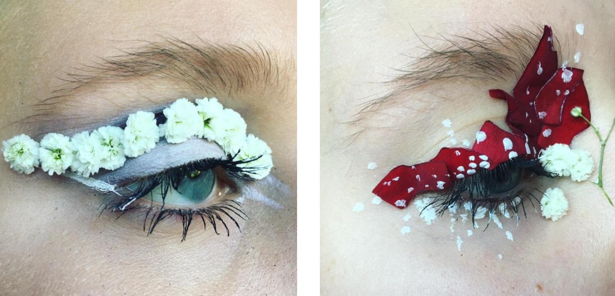 Элли Костелло-цветочный макияж фото 3