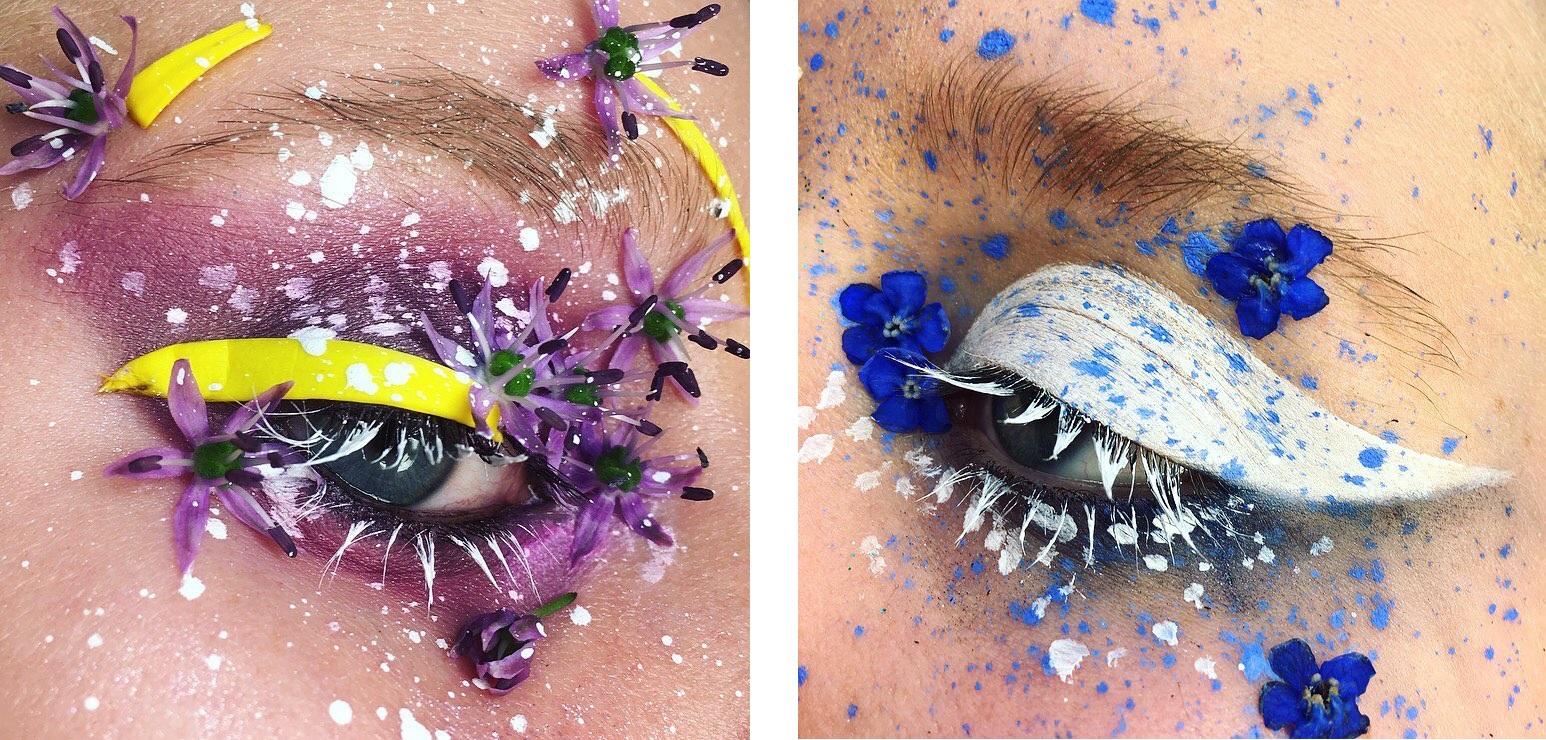 Элли Костелло-цветочный макияж фото 6