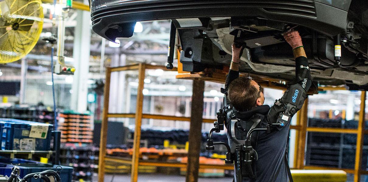 Ford workers began testing exoskeletons
