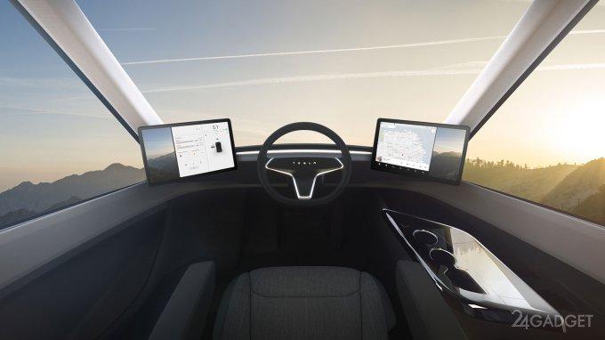 Отставному дальнобойщику не понравилась Tesla Semi (4 фото + 2 видео)