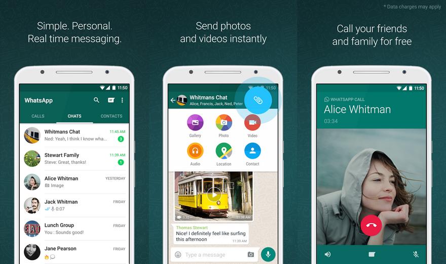 Лучшие мессенджеры для Android - WhatsApp