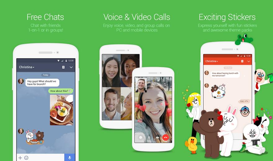 Лучшие мессенджеры для Android - LINE