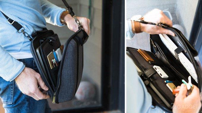 Трансформирующаяся сумка-офис для ноутбука (9 фото + видео)
