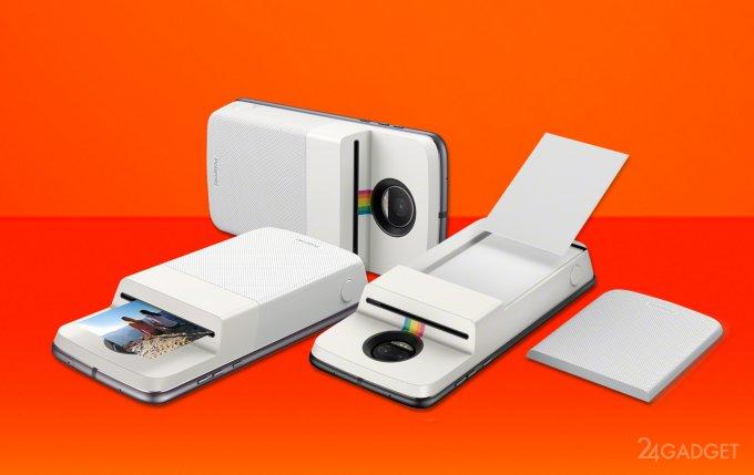 С новым модулем смартфон Moto Z превращается в Polaroid (4 фото + видео)