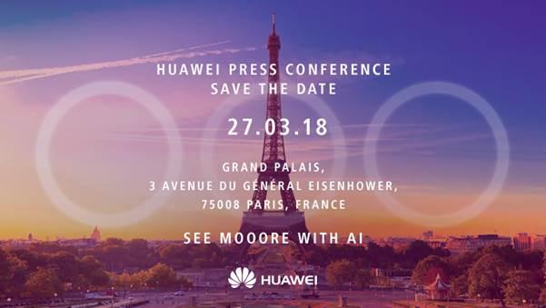 Huawei P20 Press Invite Hints At Triple Camera Setup
