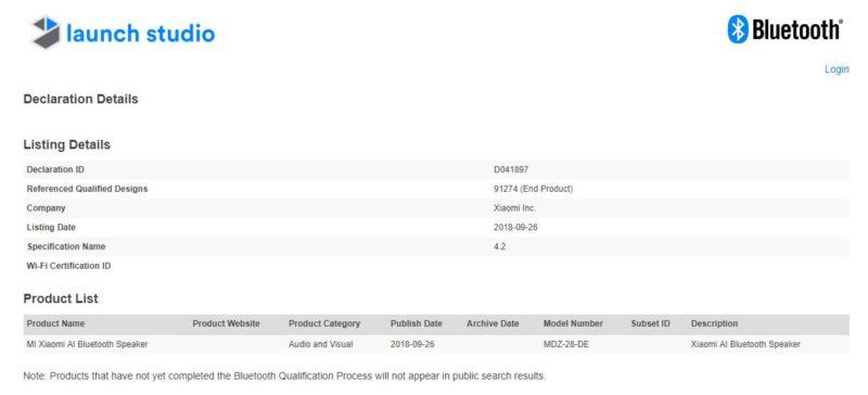 Certification Shows Xiaomi Working On Updated Mi AI Speaker