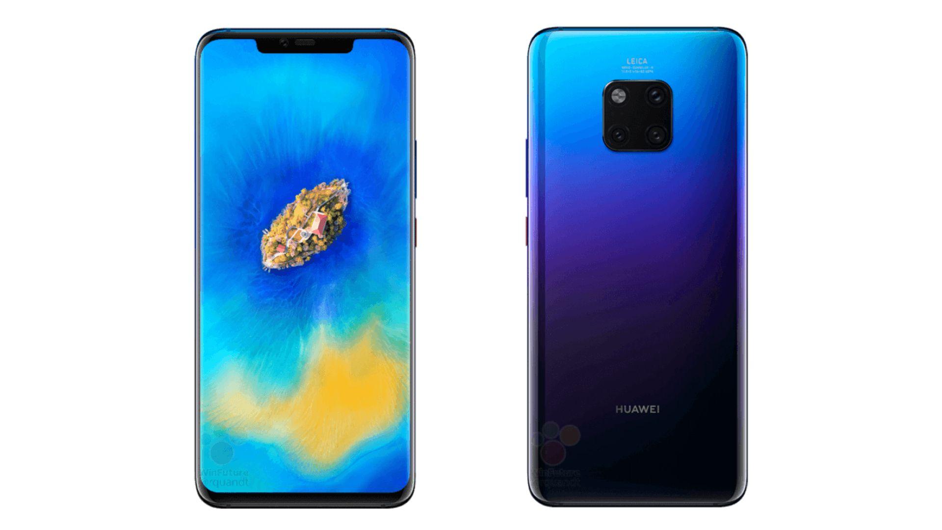 Huawei Mate 20 Pro Leaks Yet Again In Official Press Renders