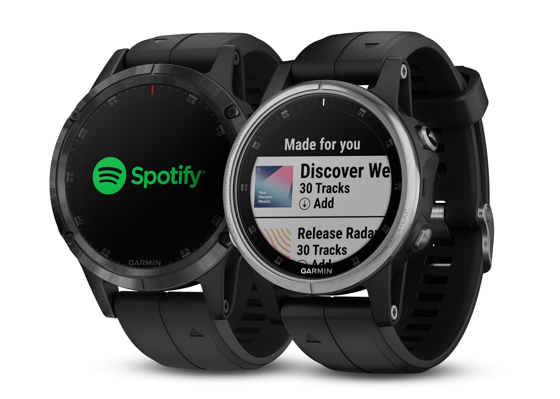 Garmin Fenix 5 Plus Gains Support For Offline Spotify Playlists