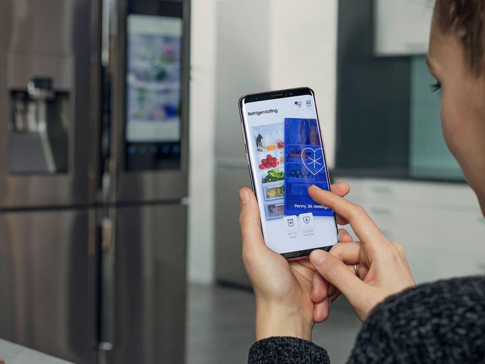 Samsung's Awkward 'Refrigerdating' App Brings Food & Love Closer